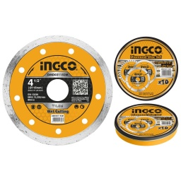 DISCO CONTINUO TURBO CERAMICA LATA X 10 PCS 4 1/2 X 22.2MM INGCO DMD021152M