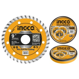 DISCO TURBO LATA X5 PCS 9 X 22.2MM  INGCO DMD032302M