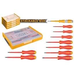 SET ORGANIZADOR + 10 HERRAMIENTAS AISLADAS P ELECTRICISTA INGCO HKTV01S101