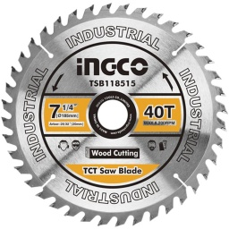 DISCO MADERA 7 1/4 P SIERRA CIRCULAR INGCO 40 D B/ 20 MM C RED A 16MM TSB118515 P/CS18528