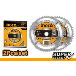 "SET X2 DISCOS (7-1/4"") 30D INGCO SUPER SELECT TSB118510"