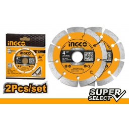 SET DISCOS SEGMENTADOS X2 4 12 SUPER SELECT INGCO DMD0111523