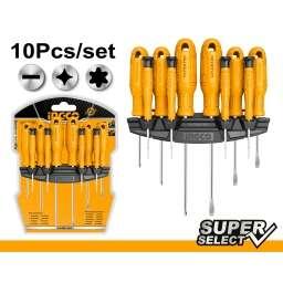 SET 10 DESTORNILLADORES SUPER SELECT HKSD1058 INGCO