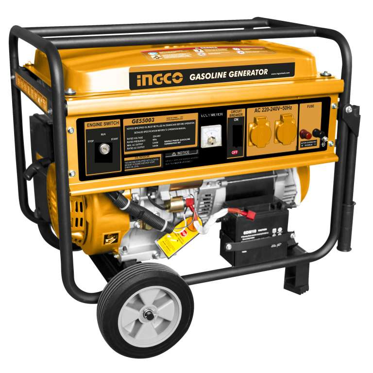 GENERADOR 5.5 KW ARRANQUE MANUAL Y ELECTRICO INGCO GE55003