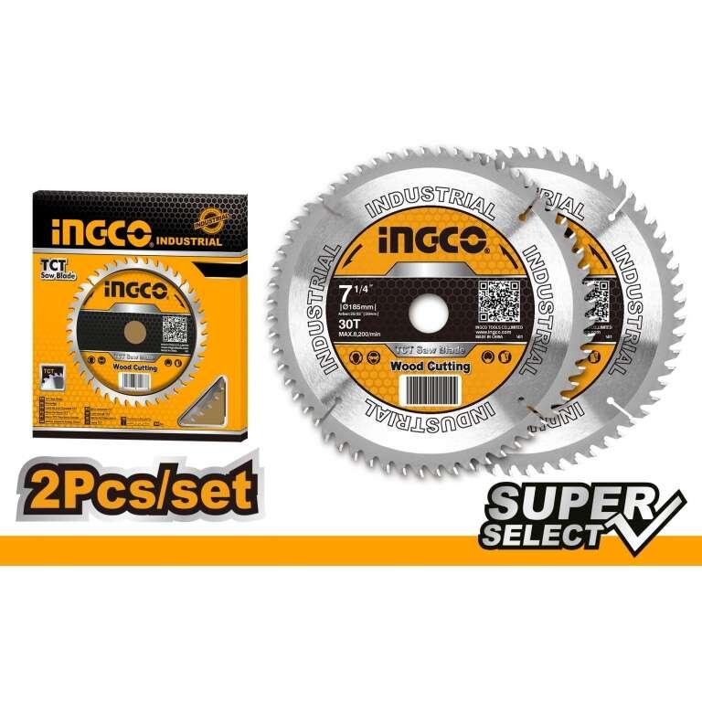 SET X2 DISCOS (7-1/4) 30D INGCO SUPER SELECT TSB118510