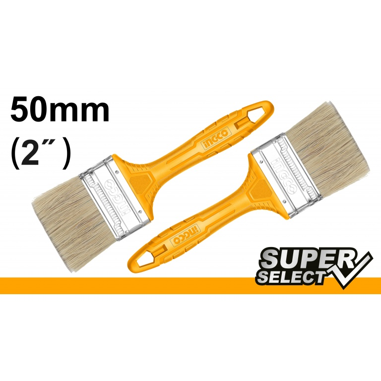PINCEL 2 MANGO AMARILLO SUPER SELECT INGCO CHPTB78602
